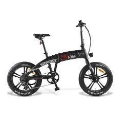 Smartway Monster Bike - Ruedas plegables de 20 pulgadas, color negro