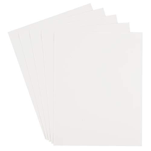 Moosgummiplatten 5er-Pack 40x30cm Moosgummi-Matten Schaumstoffplatten bunt Gummi Schule Kindergarten Weiß
