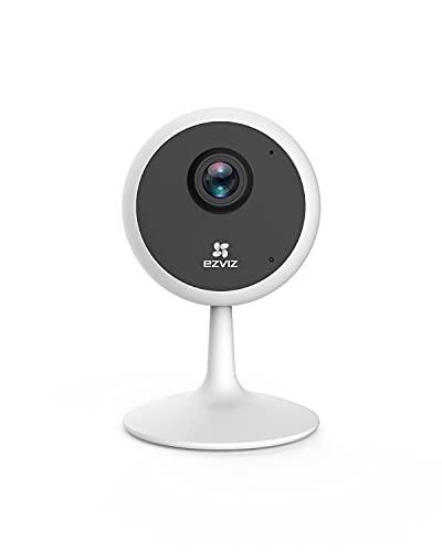 EZVIZ C1C Telecamera di Sorveglianza 1080p, Audio Bidirezionale, Baby Monitor, Visione Notturna, Servizio di Cloud Compatibile con Alexa, Bianco