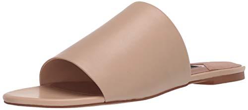 ZAC Zac Posen Women's Single Banded Slide Flat Sandal Mule, Latte Leather, 8.5
