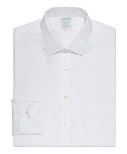 Brooks Brothers(ブルックス ブラザーズ) ノンアイロン ストレッチコットン ロイヤルオックスフォード ドレスシャツ New Milano Fit 11335072 ホワイト 15-32