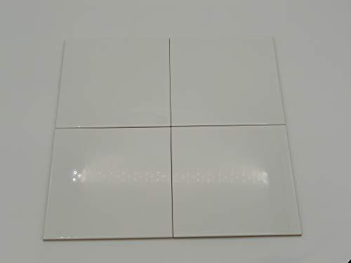 Piastrelle Ceramica Rivestimento Parete cm 20 x 20 Spessore 8 mm Bianco Lucido - Scatola 25 Pz x Mq 1
