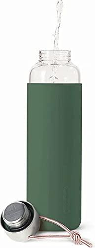 Black+Blum - Botella de agua de viaje con funda protectora, antigoteo, 600 ml