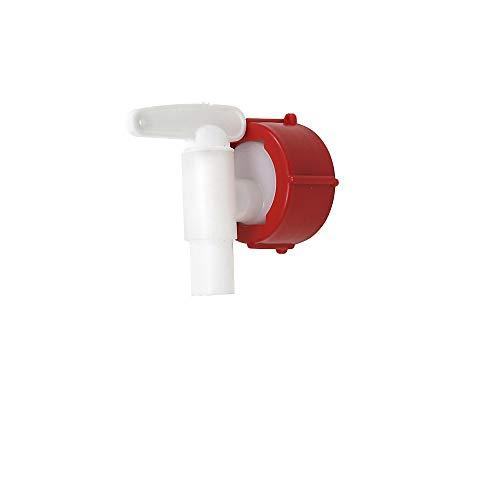 Auslaufhahn aus Polyethylen NW 15, rot