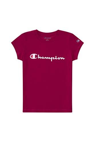 Champion Girls Heritage Short Sleeve Script Logo Tee Shirt Big and Little Girls