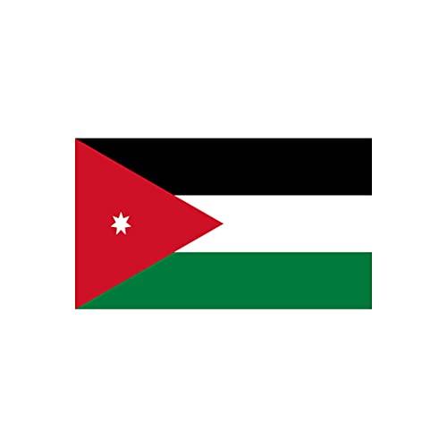 inking house Set von 2 x Jordanien-Flagge zum Aufbügeln, Siebdruck, für Stoff, maschinenwaschbar, jordanische Flagge