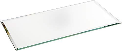 Plymor - Espejo rectangular de cristal biselado de 3 mm, 10 x 20 cm