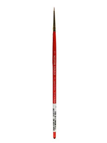 Winsor & Newton 5189704Pincel, Madera, Transparente, Rundpinsel, kurzer Stiel - Nr. 000-1 mm
