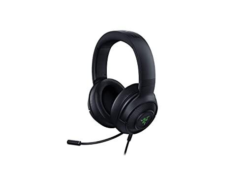 Razer Kraken V3 X Gaming Headset: 7.1 Surround Sound - Triforce 40mm Drivers - HyperClear Bendable Cardioid Mic - Chroma RGB Lighting - for PC - Classic Black (Renewed)
