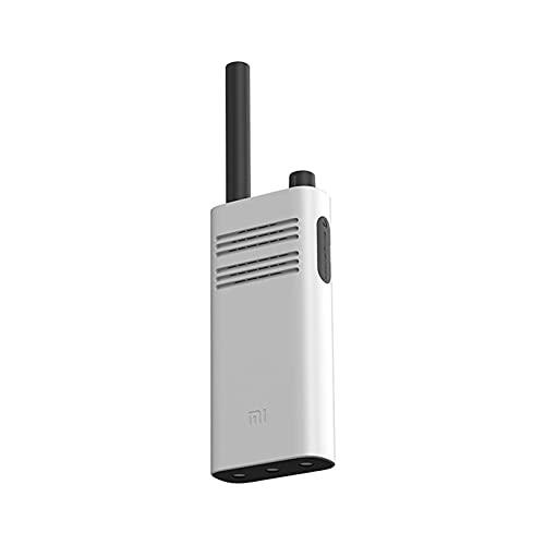 YIA Walkie-talkie portátil civil de alta potencia ultra delgada mini larga distancia al aire libre viaje estación de mano blanco