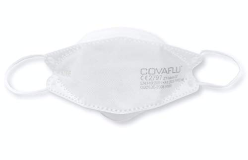 COVAFLU FFP2/KN95 Disposable Cup Shaped Face Mask (Pack of 10 Face Masks)