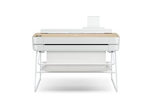 HP DesignJet Studio Wood Großformatdrucker, 36 Zoll, bis zu A0, mobiles Drucken, Wi-Fi, Gigabit Ethernet, Hi-Speed USB 2.0 (5HB14A)