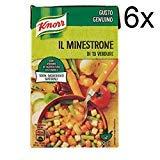 6x Knorr Il Minestrone Gemüsesuppe 13 Gemüse 500 ml 100% Natürliche Inhaltsstoffe