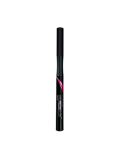 Maybelline New York Hyper Precise All Day Delineador de Ojos Waterproof, Color Negro - 9 g