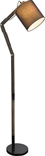 Stehlampe Modern Wohnzimmer Grau Stehleuchte Stoffschirm 21 cm (Verstellbar, Wohnzimmerlampe, Retro, Höhe 157 cm)