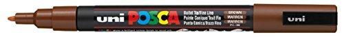 Posca PC-3M Brown Colour Paint Marker Pen 1.5mm Fine Bullet Nib Writes On...