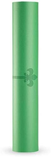 Plztou Indoor Sport Naturkautschuk-Yoga-Matte Widening Anti-Rutsch-Erde Toe Body Line Yoga-Matte (Color : Green, Size : 183X68X0.5mm (pu+Rubber))