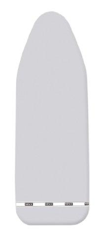 Wenko 1025091100 Copriasse da Stiro Ideal Alu S - riflessione del Calore Rivestimento in Alluminio, Imbottitura Comfort, Cotone, Argento Lucido