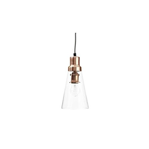 Hubsch Lámpara de techo de cristal pendular, lámpara de cobre, diseño danés