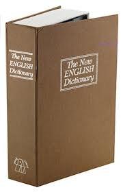 Book Safe. Cassetta di sicurezza a forma di dizionario di inglese