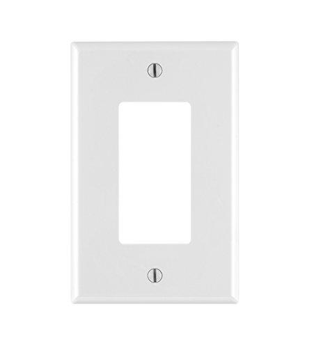 Leviton PJ26-WM 1-Gang Decora/GFCI Wallplate, 10-Pack, White