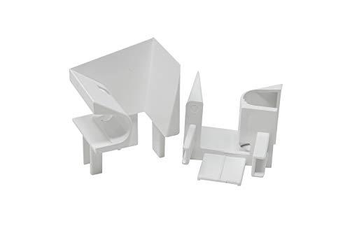 Schüco Einlauftrichter von DIWARO.® | für Kunststoff Rolladen-Führungsschienen | Preis pro Paar | weiß