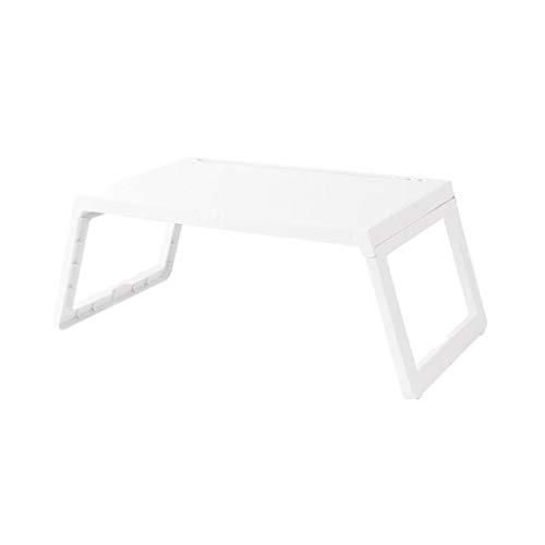 LBYMYB Mesa de la cama del ordenador portátil plegable de plástico portátil desayuno sofá perezoso estudiantes blanco mesa plegable