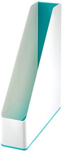 Leitz 53621051 - Portariviste WOW Duo Colour, 4 pezzi, colore azzurro ghiaccio