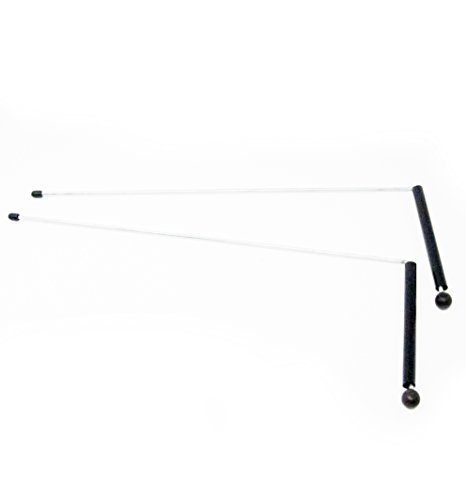 Baguettes de radiesthésie/sourcier de 32 cm de longueur avec poignées de 12 cm.