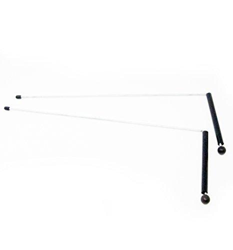 Varillas radiestesia - Busca Aguas  Zahorí - varas energéticas para localizar campos magnéticos - 32 cm de vara más 12 cm de agarre