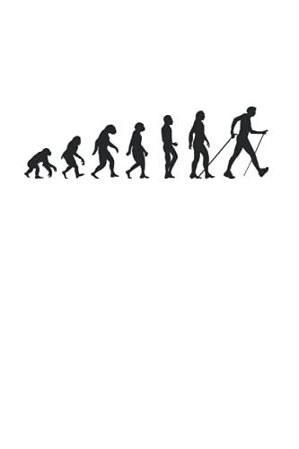 Wandern Evolution Kletterer Berge Outdoor Klettern Wanderer: 6x9 Notizbuch