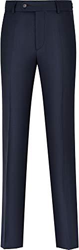 STENSER B29A Jungen Anzughose Schuluniform Elastische Taille, Blau, 140 GR (Label 36/140)