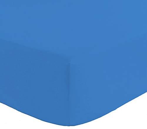 SpazioTessile Lenzuola con Angoli o Federe Morbida Microfibra Tinta Unita 3 Misure 8 Colori (Avio, Matrimoniale 180x200+25)