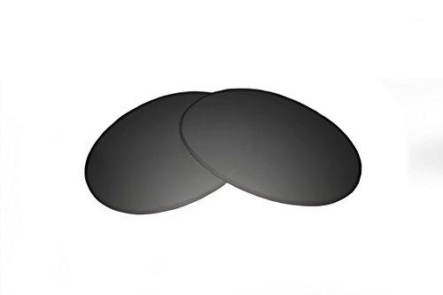 SFx Replacement Sunglass Lenses fits Warby Parker Bates 46mm wide (Ultimate Black Gradient Hardcoat Pair-SFxEdge (non-polarized))