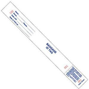 Bag Identification Tags with Transfer Boston Mall 1000 Box Popular products Tape White