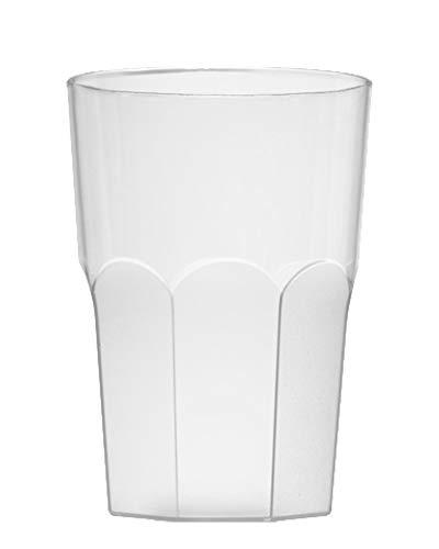 """Garnet - Vaso de plástico reutilizable""""XXL"""" – 1 unidad – Apto para lavavajillas – 1,8 grande/1,5 litros de servicio – Fabricado en Italia"""