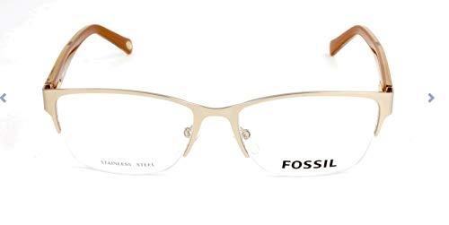 Fossil Brillengestelle FOS 6045 Rechteckig Brillengestelle 53, Gold