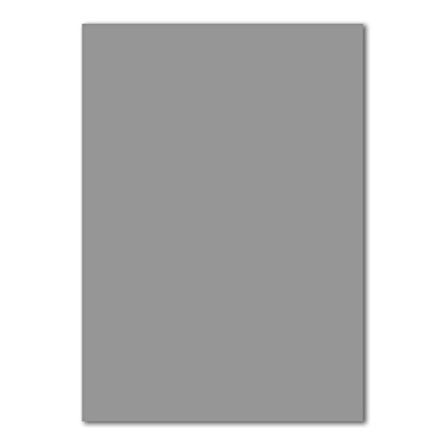 50x DIN A4 Papier Planobogen -Graphitgrau/Dunkel-grau - 110 g/m² - 21 x 29,7 cm - Ton-Papier Fotokarton Bastel-Papier Ton-Karton - FarbenFroh®