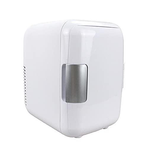 Refrigerador,Mini Nevera Portátil para El Skincare 4L,Nevera para Coche, Camión, Barco Y Autocaravana, 12V/220V,Nevera Portátil De Compresor, para Enfriar Y Calentar (Color : White)