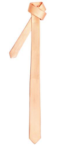 Retreez Corbata fina para hombres con textura de rayas Naranja claro