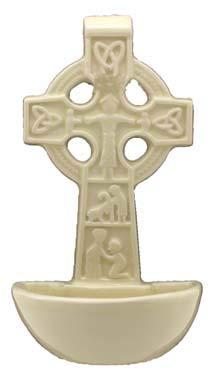 Shamrock Celtic Cross Holy Water Font