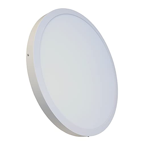 Plafon LED Redondo Superficie 60x60 cm. 48W. Color Blanco Frío (6500K). 5000 Lumenes. A++
