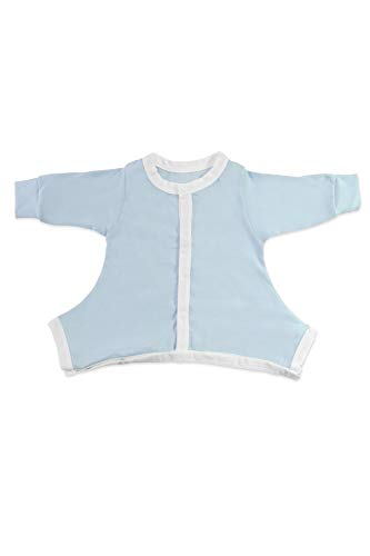 Hip-Pose Baby-Schlafanzug für Spreizhose und Gipshosen für Neugeborene 0-3 Monate, blau