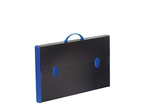 Balmar 2000 PF14235/R10 Valigetta Hardox 235/R, Nero 37 x 60 x 5 cm in Polionda Nero con Dorsi Rigidi, Accessori in Colori Assortiti