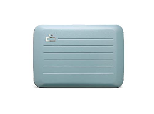 Ögon Designs - Stockholm V2 Aluminum Wallet - Metal lock and water resistant - RFID Blocking Card holder - Up to 10 Cards and Banknotes (Arctic Blue Matt Paint)