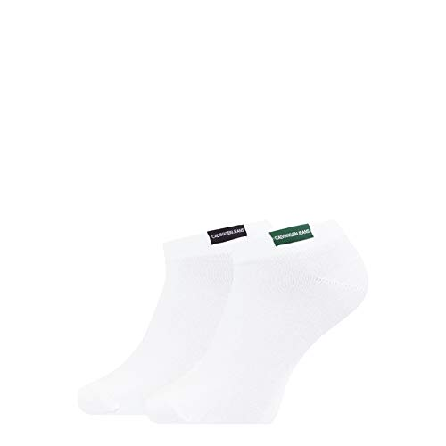Calvin Klein Organic Cotton Patch Men's Liner Socks (2 Pack) Calcetines, blanco,...