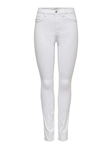ONLY Damen Onlroyal Hw Sk White Noos Jeans, Weiß, 30 EU