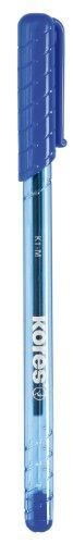 Kores Einweg-Kugelschreiber K-Pen K1, M, 12 Stück, blau