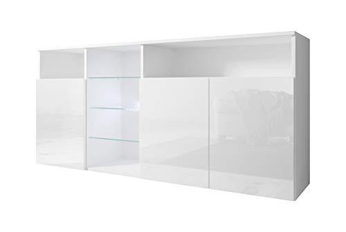muebles bonitos Aparador Modelo Clark Color Blanco