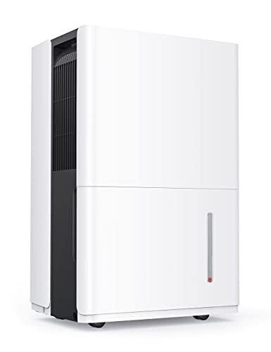 Dehumidifier with Pump 50 Pint 4,500 Sq. Ft, Dehumidifiers for Large Room or Basements 6L Water Tank with Drain Hose Intelligent Humidity Control, Continuous Drainage Bedroom Bathroom